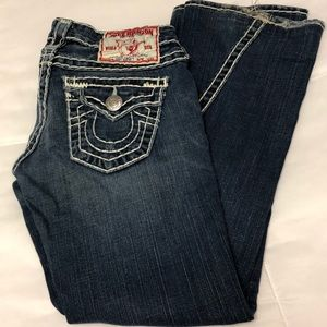 Authentic True Religion Jeans with white thread